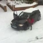 Kobieta, auto i zima - zabójcza mieszanka!