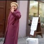 Babcia wyprowadza na spacer... mikrofalówkę!