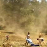 Plażowicze, zaatakowani przez trąbę pyłową!
