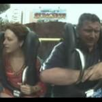 Wszedł na rollercoastera dla swojej kobiety