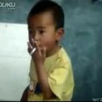 Kolejny dzieciak, uzależniony od nikotyny!