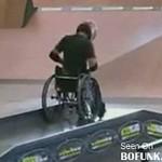 Skater na wózku inwalidzkim!