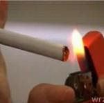 Czego się nie robi, żeby zapalić papierosa...