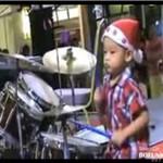 Czterolatek na perkusji - MAŁY GENIUSZ!