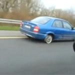 Jazda BEZ OPON na autostradzie!