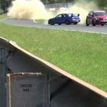 Kierowca Subaru Imprezy miał wielkie szczęście!