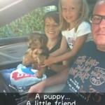 Podarowali dziadkowi psa po śmierci żony
