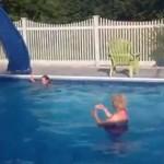 Skok do basenu - o rety...
