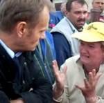 Premier Tusk wizytuje miejsca największych zniszczeń