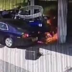 Bohater uratował kierowcę z płonącego auta