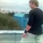 Ruski parkourowiec wpadł przez dach do szopy