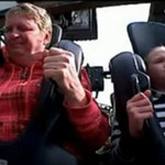 Poszedł z córeczką na rollercoastera...