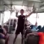 Pijany pasażer wyleciał z autobusu!