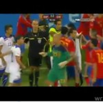 Bójka na meczu Hiszpania - Chile
