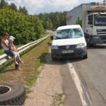 Ciężarówka ZGUBIŁA opony!