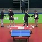 Najśmieszniejszy mecz tenisa stołowego w historii