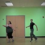 Gruba dziewczyna porusza się jak mistrzyni tańca!