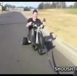 Rozwalił się rowerem