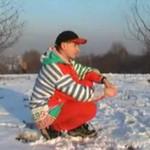 Gracjan cieszy się zimą