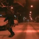Snowboardzista zawstydził drogowców! BOSKIE!