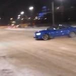 Audi S5 przesadziło z driftem