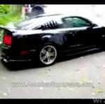 Palenie gumy Mustangiem