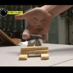 Pokaz karate- w wykonaniu palców!