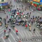 Ruch uliczny w Hanoi (Wietnam)