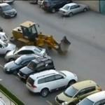 Wściekły kierowca buldożera
