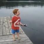 Złapał rybę w rekordowym czasie