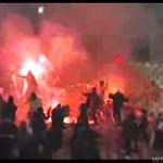Kibole z Belgradu strzelali racami w policję!