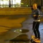 Wpadka na longboardzie