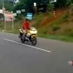 Motocyklista przecenił swoje umiejętności
