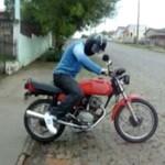 Motocyklista miał problemy z rozpędem...