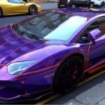 "Lamborghini Aventador w stylu filmu ""Tron"""