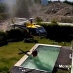Helikopter KRADNIE wodę z basenu!