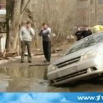 Taksówkarz utopił auto (ROSJA)
