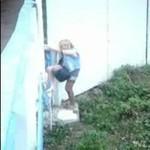 Pijana laska kontra ogrodzenie - SZOKUJĄCE!