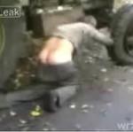 Pijany traktorzysta!