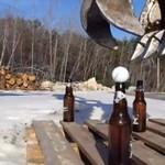 Jak otworzyć piwo... koparką!?