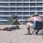 Uwaga, zboczeniec na plaży!