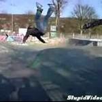 Potworne salto na desce!