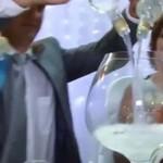 Pół litra w toaście weselnym