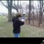 Strzelił sobie prosto w twarz!