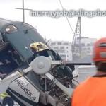 Wypadek helikoptera - cud, że załoga przeżyła!