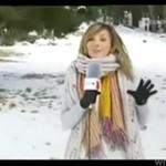 Reporterka - blondynka