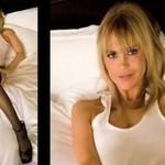 Dziewczyna Playboya i wycinanie koszulki - SEXY!