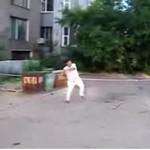 Frisbee w Rosji - UCIERPIAŁ KAMERZYSTA!