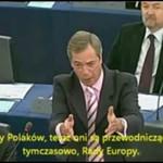 Nigel Farage wytyka błędy politykom!