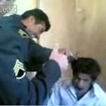 Torturowanie długowłosego więźnia - Iran
